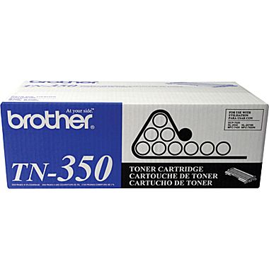 Brother Genuine TN350 OEM High Capacity Black Toner Cartridge, 2500 Page Yield